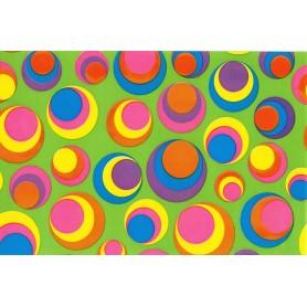 Papel Regalo Circulos de colores alto brillo