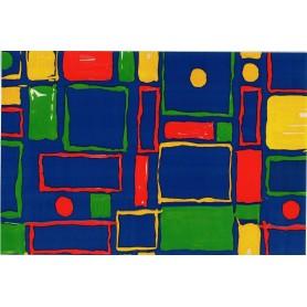 Papel Regalo Formas de colores Alto Brillo