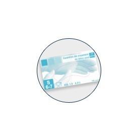 Guantes de latex con polvo azul