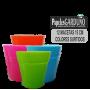 Maceteros de Plástico Colores Surtidos