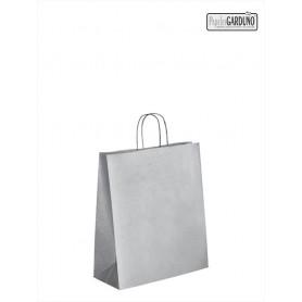 Bolsa papel asa retorcida 18+8*24 - celulosa 100 gr fondo plata
