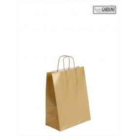 Bolsa papel asa retorcida 18+8*24 - celulosa 100 gr fondo oro