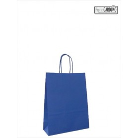Bolsa papel asa retorcida 18+8*24 - celulosa 90 gr - fondo color azul