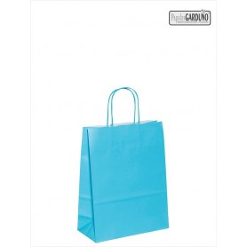 Bolsa papel asa retorcida 18+8*24 - celulosa 90 gr - fondo color celeste