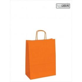 Bolsa papel asa retorcida 18+8*24 - celulosa 90 gr - fondo color naranja