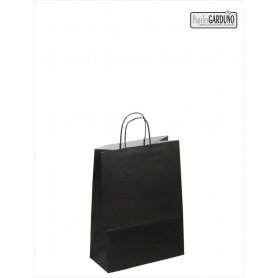 Bolsa papel asa retorcida 18+8*24 - celulosa 90 gr - fondo color negro