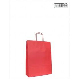 Bolsa papel asa retorcida 18+8*24 - celulosa 90 gr - fondo color rojo
