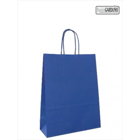 Bolsa papel asa retorcida 27+12*37 - celulosa 90 gr - 250 bolsas - fondo color