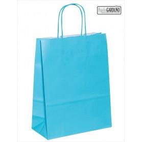 Bolsa papel asa retorcida 42+19*48 - celulosa 90 gr - fondo color celeste
