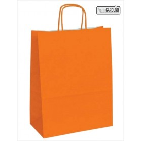 Bolsa papel asa retorcida 42+19*48 - celulosa 90 gr - fondo color naranja