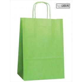 Bolsa papel asa retorcida 42+19*48 - celulosa 90 gr - fondo color pistacho