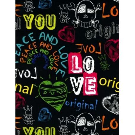 5091727-Papel Regalo Love Original 70 fondo negro