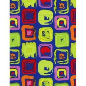 5091522-Papel Regalo Cuadros Multicolor 70 fondo azul