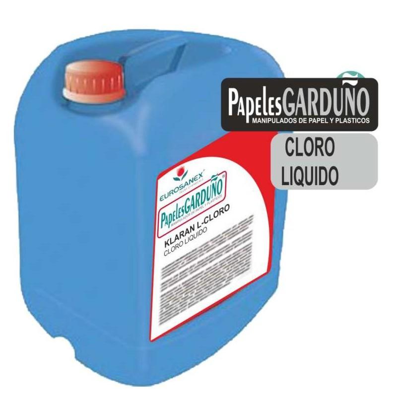 Cloro liquido en garrafa Klaran L-cloro