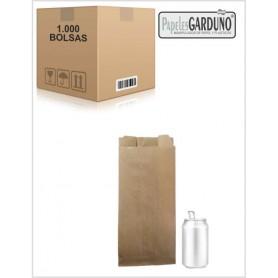 Bolsas de papel kraft 14+5x31 sin impresion