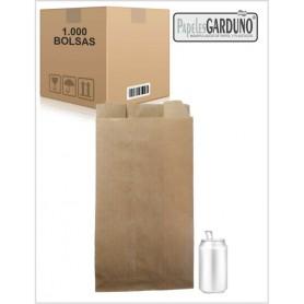 Bolsas de papel kraft 22+7x41 sin impresion