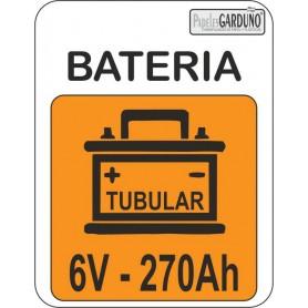 Bateria tubular 6v - 270 Ah