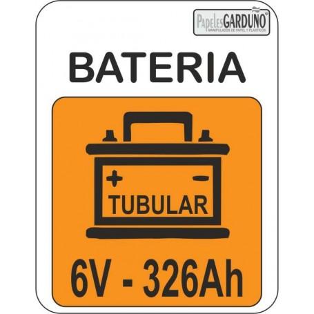 Bateria tubular 6v - 326 Ah