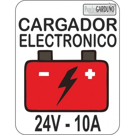 Cargador electronico de baterias 24v - 10A