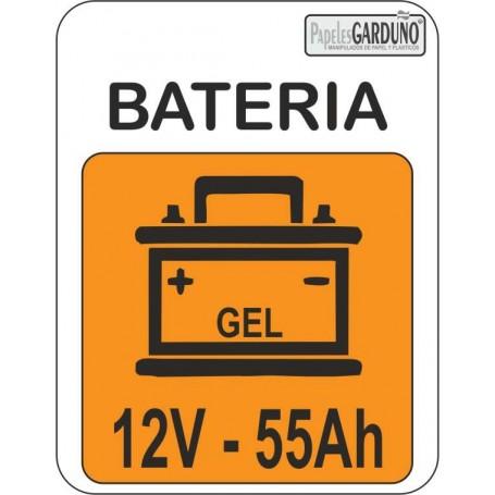 Bateria de gel 12V - 55Ah