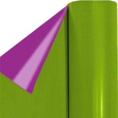 51BN263-polipropileno nacarado bicolor verde pistacho - violeta 35 micras nuevo