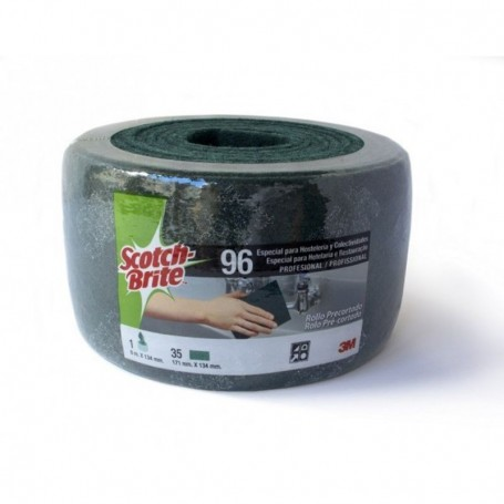 Estropajo fibra verde Scotch Brite 3M en rollo