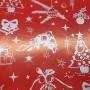 509N5-R-Papel Regalo Navidad Adornos fondo rojo