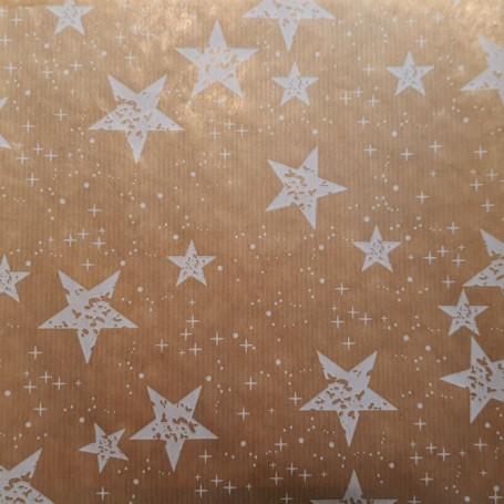 Papel Regalo fondo de estrellas kraft