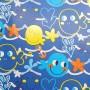 5091535-Papel Regalo Acuario 70 fondo azul