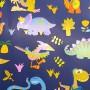 5091532-Papel Regalo Dinosaurios 70 fondo azul oscuro