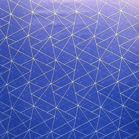 5091739-Papel Regalo Triangulos 70 fondo azul