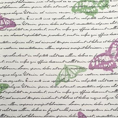 5091917-Papel Regalo con textos y mariposas