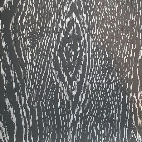 5091930 - Papel Regalo efecto madera una cara - negro y plata