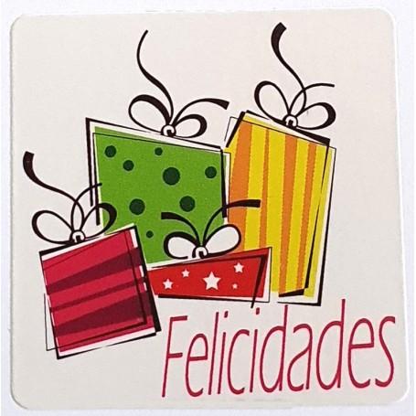 Etiqueta Felicidades cajas de regalo 40x40