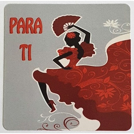 Etiqueta Para ti - flamenca 40x40