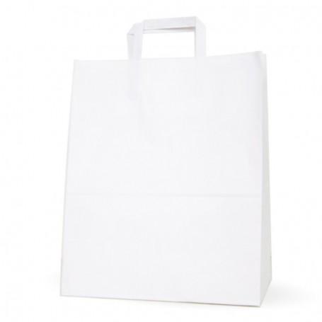Bolsas papel asa plana 32+17*40 - Celulosa 100 gr - 125 bolsas