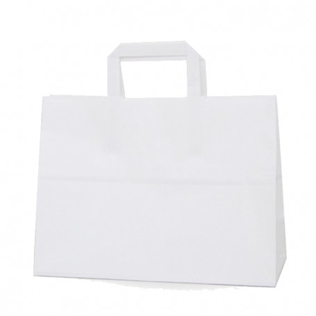 Bolsas papel asa plana 32+17*28 - celulosa 100 gr - 125 bolsas