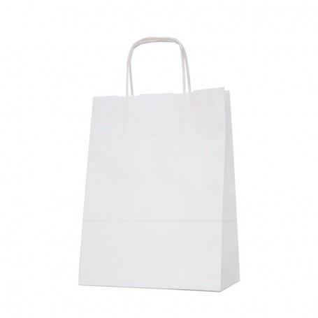 Bolsas papel asa retorcida 24+11*32 - celulosa 80 gr - 150 bolsas