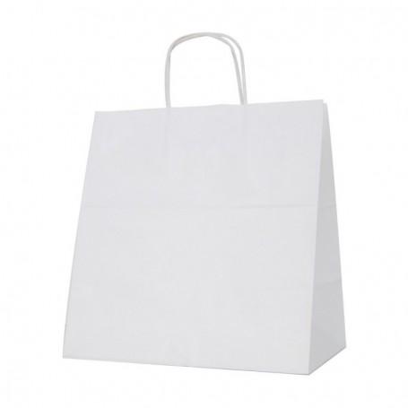 Bolsas papel asa retorcida 30+19*32 - celulosa 100 gr - 125 bolsas
