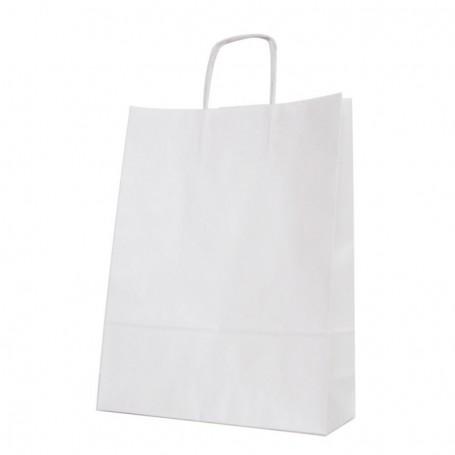 Bolsas papel asa retorcida 32+12*42 - celulosa 100 gr - 125 bolsas