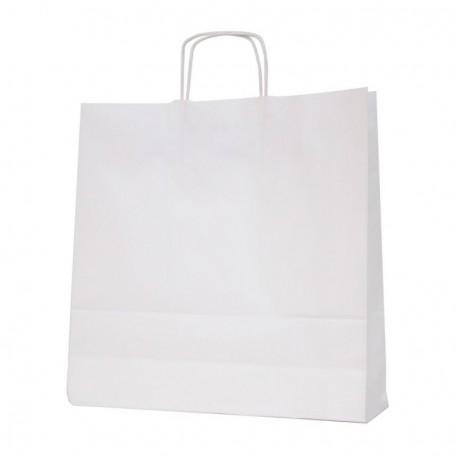 Bolsas papel asa retorcida 37+12*37 - celulosa 100 gr - 125 bolsas