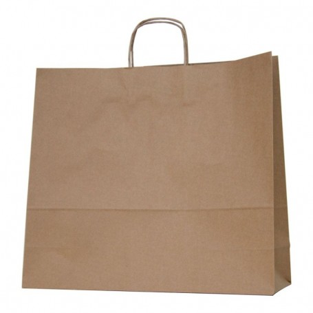 Bolsas papel asa retorcida 45+14*40 - kraft 100 gr - 125 bolsas
