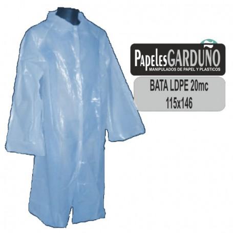 Bata de Visita Polietileno 115x146 Cuello Camisa - 200 unidades